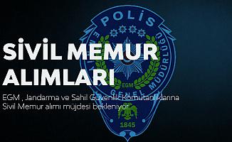 Jandarma Genel Komutanlığı, Sahil Güvenlik Komutanlığı ve EGM'ye Sivil Memur Alımı Bekleniyor