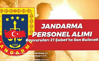 Jandarma Astsubay Alımı Başvuruları 21 Şubat'ta Son Bulacak