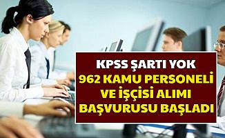 KPSS Şartı Yok: Kamuya 962 Personel Alımı Başvurusu İŞKUR'dan Başladı