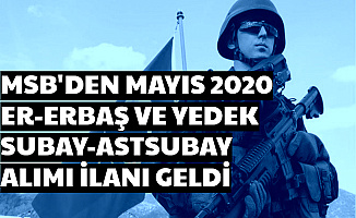 MSB Er, Erbaş ve Yedeke Subay Astsubay Alımı İlanı (Mayıs 2020 Celp Dönemi)
