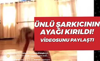 Ünlü Şarkıcının Dans Ederken Ayağı Kırıldı! Videoda Kırık Sesi Duyuluyor...