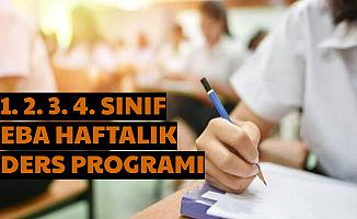 1. 2. 3. ve 4. Sınıf EBA Haftalık Ders Programı İlkokul EBA Tv 25 Mart 2020