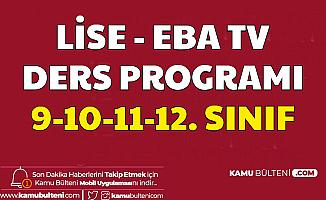 30 Mart 2020 Eba Tv Lise Ders Programı Belli Oldu- 9. 10. 11. ve 12. Sınıf Ders Saatleri
