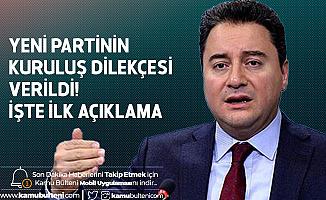 Ali Babacan'ın Yeni Partisi için Kuruluş Başvurusu Yapıldı! İşte İlk Açıklama