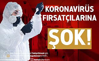 Koronavirüs Fırsatçılarına Büyük Şok! 1 Milyon Adet Ele Geçirildi