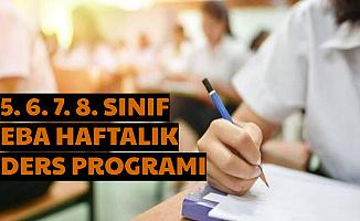 Ortaokul 5. 6. 7. ve 8. Sınıf EBA Ders Programı 25 Mart 2020 (Eba Tv Frekans Ayarı)