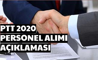 PTT 2020/1 Kamu Personel Alımı Açıklaması Geldi