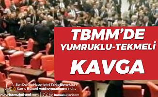 Türkiye Büyük Millet Meclisi'nde Tekmeli Yumruklu Kavga!