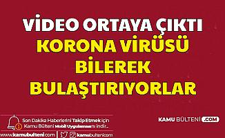 Video Ortaya Çıktı: Corona Virüsü Bilerek Yayıyorlar