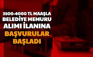 3500-4000 TL Maaş: Belediye Memuru Alımı Başvurusu Başladı (VHKİ-Memur-Mühendis)
