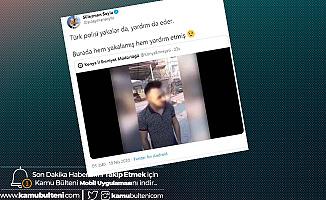 İçişleri Bakanı Soylu Paylaştı! Türk Polisi Yakalar da Yardım da Eder