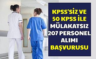 KPSS'siz ve 50-60 KPSS ile Mülakatsız 207 Personel Alımı Başvurusu İnternetten Başladı (Gaziantep-Harran-Trakya Üniversitesi)