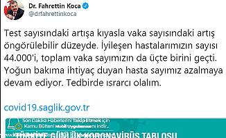 Sağlık Bakanı Fahrettin Koca'dan Açıklama: Tedbirde Israrcı Olalım