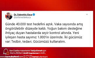 Sağlık Bakanı Fahrettin Koca: Yeni İyileşen Hastamız 1000'in Üzerinde