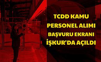 TCDD Personel Alımı Başvurusu İŞKUR'dan Başladı