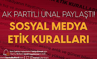 AK Parti'den Sosyal Medya Etik Kuralları Açıklaması