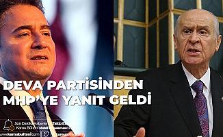DEVA Partisi'nden MHP'ye: Cevap Vermeye Değmez...