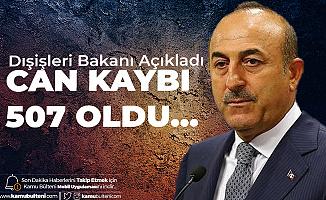 Dışişleri Bakanı Çavuşoğlu:Yurt Dışında 507 Türk Vatandaşı Koronavirüs Nedeniyle Hayatını Kaybetti