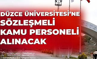 Düzce Üniversitesi Sözleşmeli Personel Alımı Başvuruları için Son Günlere Girildi