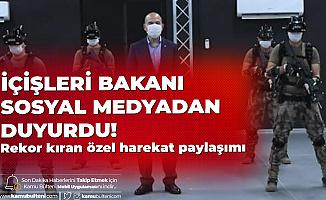 İçişleri Bakanı Sosyal Medyadan Paylaştı: Özel Harekatımıza Çok Yakıştı!