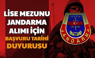 Jandarma Lise Mezunu Subay Astsubay Alımı Tarihi Hakkında Açıklama 2020
