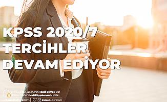 KPSS 2020/7 ile Personel Alımı için Tercihler Devam Ediyor