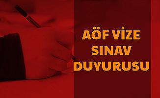 Son Dakika: AÖF Sınav Duyurusu Yayımlandı (ATA-AÜ-AUZEF)