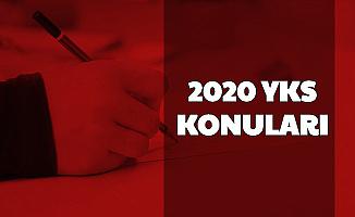 YKS 2020 Konuları (TYT AYT Çıkarılan - Kaldırılan Konular Soru Dağılımı)