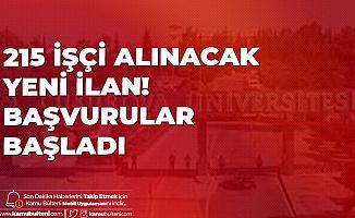 215 İşçi Alınacak! Çukurova Üniversitesi'ne En Az İlkokul Mezunu Alımı için Başvurular İŞKUR Üzerinden