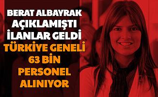 Berat Albayrak Duyurmuştu: Türkiye Geneli 63 Bin Personel, Memur İşçi Alımı Başladı