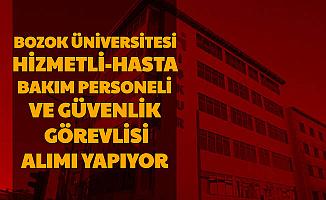 Bozok Üniversitesi 80 İşçi Alımı Yapıyor (Hasta ve Yaşlı Bakımı-Temizlik -Güvenlik Görevlisi)