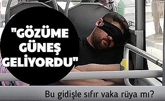 """Fahrettin Koca Maskeyi Gözüne Takan Kişiyi Paylaşmıştı: """"Gözüme Güneş Geliyordu"""""""