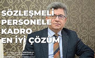 MHP'li Aycan: Sözleşmeli Personele Kadro En İyi Çözümdür