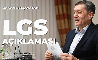 Milli Eğitim Bakanı Ziya Selçuk'tan LGS ve Maske Açıklaması