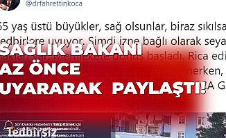 Sağlık Bakanı Fahrettin Koca Az Önce Uyararak Paylaştı: Evde Geçen Onca Günün Ne Kıymeti Kalır?