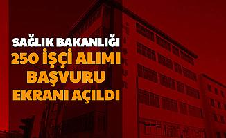 Sağlık Bakanlığı 250 İşçi Alımı Başvuru Ekranı Açıldı-İşte İŞKUR Başvurusu