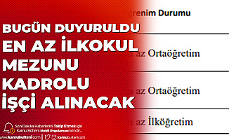 Tokat Gaziosmanpaşa Üniversitesi'ne En Az ilkokul Mezunu Kadrolu İşçi Alımı Yapılacak