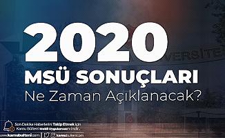2020 MSÜ Sınav Sonuçları için Geri Sayım Sona Eriyor