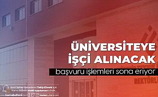 Eskişehir Teknik Üniversitesi'ne Kadrolu Kamu İşçisi Alımı Başvuruları Sona Eriyor