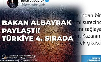 Hazine ve Maliye Bakanı Albayrak Paylaştı: Türkiye Dünyada 4. Sırada