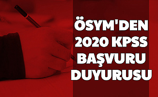 ÖSYM'den 2020 KPSS Başvuru Duyurusu