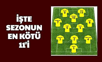 Süper Lig'de Sezonun En Kötü 11'i Belli Oldu