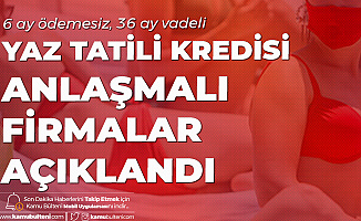 Vakıfbank'tan Yaz Tatili Kredisi: 6 Ay Ödemesiz , 36 Ay Vadeli Kredi