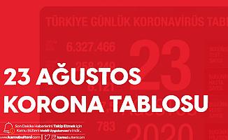23 Ağustos Türkiye Koronavirüs Tablosu Yayımlandı