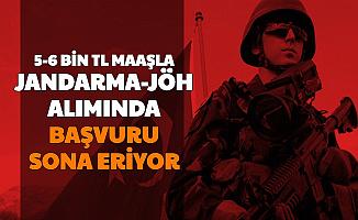 5-6 Bin TL Maaşla Jandarma JÖH Alımı (1000 Astsubay, 300 Subay Alımı Başvurusu Sona Eriyor)