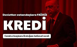 Erdoğan Talimat Verdi: Devletten Vatandaşlara Faizsiz Borç Müjdesi