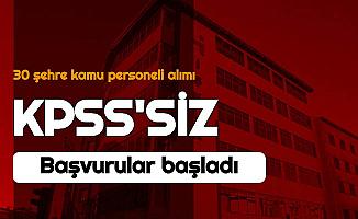 KPSS Şartı Yok: 30 Şehirde Kamuya 3 Bin TL Maaşla Personel Alımı
