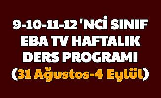 MEB Açıkladı İşte 9, 10, 11 ve 12'nci Sınıf EBA Tv Ders Programı (31 Ağustos, 1,2,3,4 Eylül Lise Ders Saatleri)