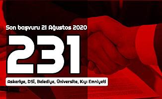Son Başvuru 21 Ağustos 2020: Kamuya 3-4 Bin TL Maaşla En Az İlkokul Mezunu 231 Personel Alımı