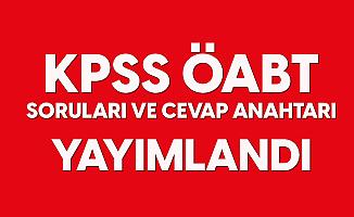 2020 KPSS ÖABT Soruları ve Cevap Anahtarları Yayımlandı